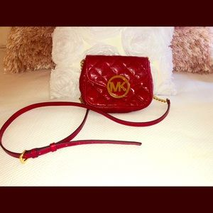 Michael Kors red leather small purse